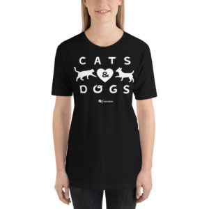 Cats And Dogs - Short-Sleeve Unisex T-Shirt - Design by fANSIMON